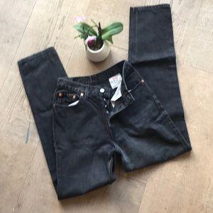Levi Black 501 Jeans Size 5 Short EUC!